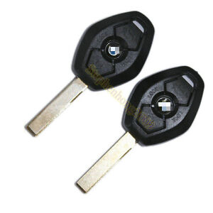 2-X-Remote-Blank-Uncut-Key-Shell-Case-FOR-BMW-1-3-5-6-7-X3-X5-E53-E46-E39-E60-Z4