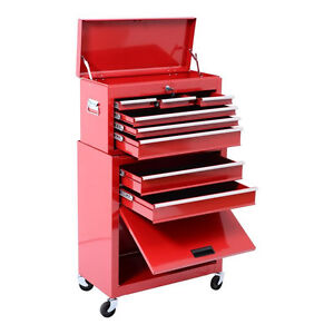 Portable Top Chest Rolling Tool Storage Box Cabinet Sliding Draw