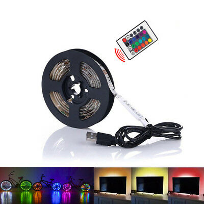 New USB Powered Computer TV Backlight Kit RGB Colour Change 5050 LED Light Strip