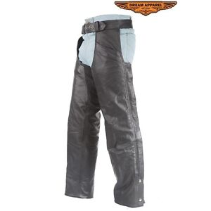 C332      BROWN LEATHER CHAPS