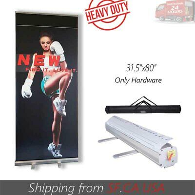 Retractable Roll Up Banner Stand Trade Show Pop Up Display Stand 31.5 X 80