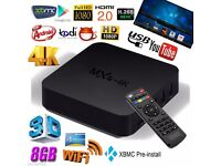 MXQ 4K ANDROID BOX KODI 16.1 FULLY LOADED,MOBDRO, SHOWBOX, FREE MOVIES,SPORT, TV SHOWS and MUCH MORE
