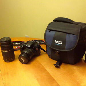 Canon Rebel T2I Camera with case and if wishing extra lens