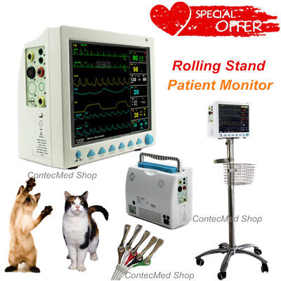 Veterinary Vital Signs Patient Monitor 6 Parameter Icuccufree Stand Contec Usa