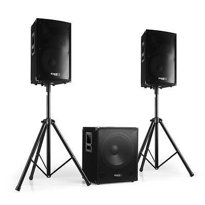 Set Audio Casse Altoparlanti Impianto Completo Sound System Subwoofer DJ PA 800W