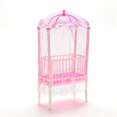 1 Pcs Fashion Crib Baby Doll Bed Accessories Cot for Barbie Girls Gifts US.