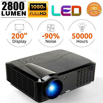 2800 lm LED Projector Smart Home Theater Cinema FHD 1080P 3D Video Media Player