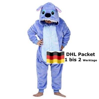 Kinder Pyjamas Tier Karneval Jumpsuit Stitch Cosplay Kostüm für Mädchen Jungen