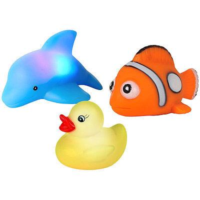 Badespielzeug: Blinkende Badewannen-Tierchen im 3er-Set (Badewannen Tiere)