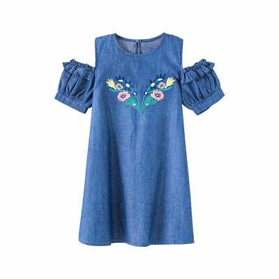 Kids Sundress For Girls 4 6 8 10 12 Years Casual Baby Girl Princess Denim Dress](Denim Dress For Girls)