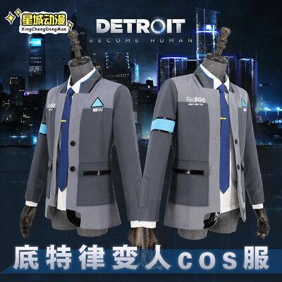 Detroit Become Human Connor RK800 Mantel Jacket Cosplay Kostüm Outfit Coat PS4  Connor Kostüm