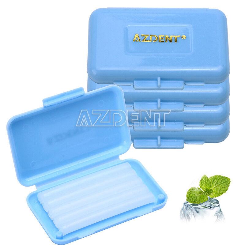 5 kits Dental Orthodontic Wax Blue-Mint scent For Braces gum irritation AZDENT