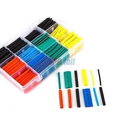 530 Pcs 21 Heat Shrink Tubing Tube Sleeving Wrap Cable Wire 5 Color 8 Size New