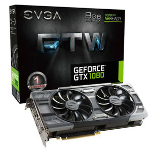New EVGA GTX 1080 FTW gaming video graphics card, unopened box.