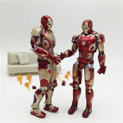 New 2018 Hot Toys Iron Man Diecast Mark XLII MK42 with LED Light Ironman Marvel (Iron Man Mark 42)