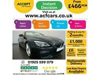 2017 BLACK BMW 640D CONVERTIBLE 3.0 M SPORT 2DR AUTO CAR FINANCE FR £466 PCM