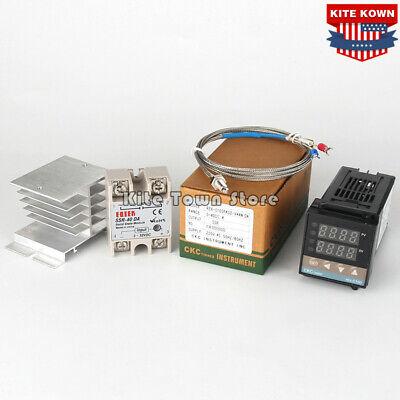 Digital Pid Temperature Controller 40a Ssr K Thermocouple Sensorheataink