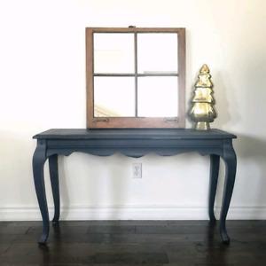 Dark Navy Blue Console/Sofa Table