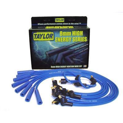 Taylor Spark Plug Wire Set 64651; High Energy 8mm Blue for Ford, Pontiac V8