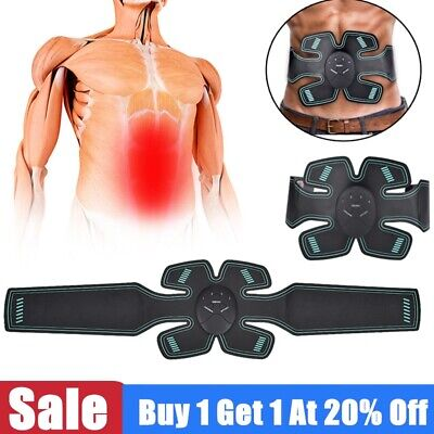 Battery ABS Stimulator EMS Abdominal Fitness Body Exerciser Muscle Trainer