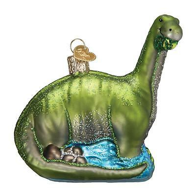 BRONTOSAURUS OLD WORLD CHRISTMAS GLASS QUADRUPEDAL JURASSIC ORNAMENT NWT 12471
