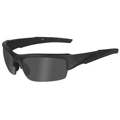 WILEY X WX VALOR GLASSES BLACK OPS SMOKE GREY LENS BALLISTIC MATTE BLACK FRAME