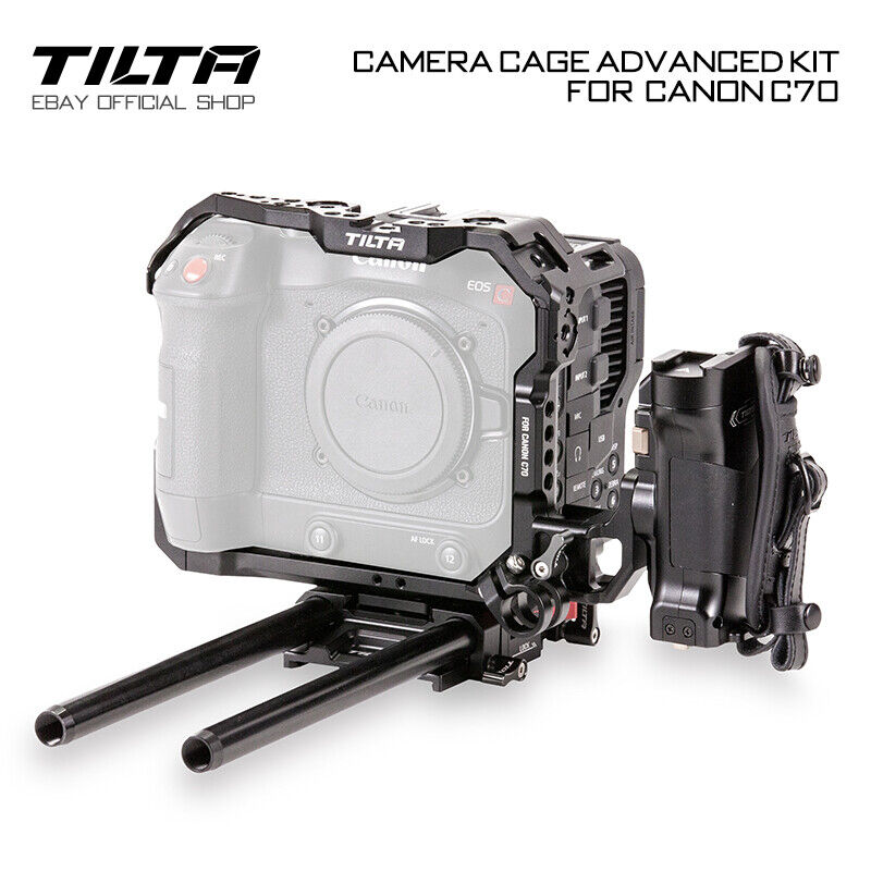 Tilta Camera Cage Rig Handle Grip Holder Stabilizers For Canon C70 Advanced Kit