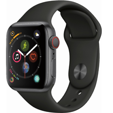 Apple MTUG2LL/A Watch Series 4 40mm Space Gray Aluminum Case Black Sport Band