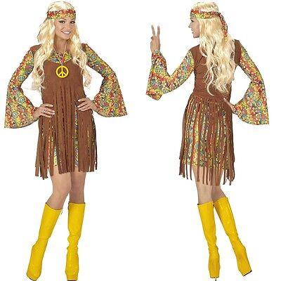 HIPPIE GIRL fetziges Damen Kostüm 60er 70er J. - Schlagermove Karneval - 60er Hippie Girl Kostüm