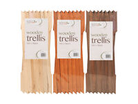Set Of 4 Expanding Wooden Garden Trellis 6 x 1 ft (Available In 3 Colours)