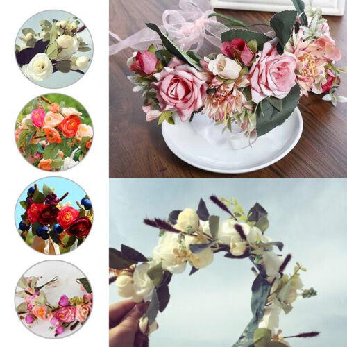 Blumen Stirnband Hochzeit Haarkranz Blume Krone Strand Party Floral Kopfschmuck