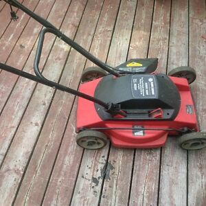 Black and Decker electric mower works well