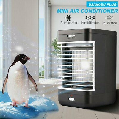 Mini Air Conditioning Conditioner Unit Fan Low Noise Home Cooler Humidifier UK