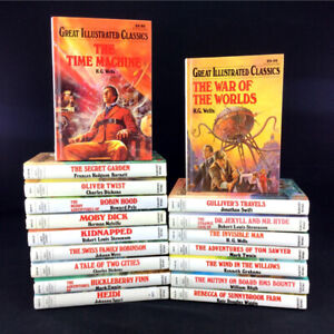 Lot 18 Great Illustrated Classics Books Set Hardcover Children