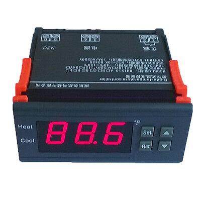 Digital Temperature Control Controller Thermostat 10a 110v -58194 Delay Sensor