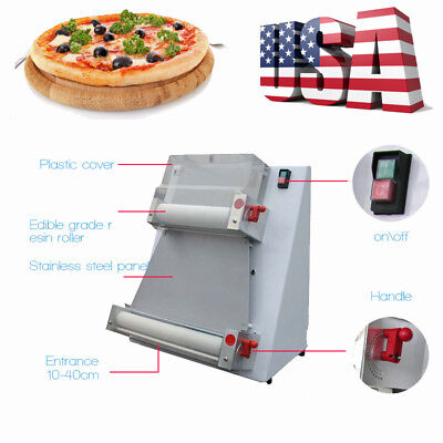 Automatic 370w Electric Pizza Bread Dough Roller Sheeter Pizza Making Machine Ce