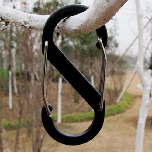 5PCS 8 Shape Carabiner Key Chain Hook Clip Buckle S-biner Sl