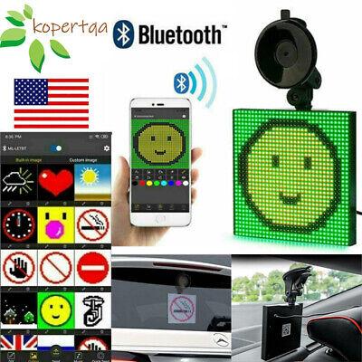 Car Emoji Emoticon Animated LED Wireless Bluetooth App Controlled Display Screen