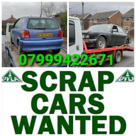 WANTED SCRAP CARS VANS CASH PAID