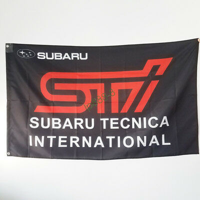 New Flag for Subaru STI Tecnica International Flags 3x5ft Advertising Decor