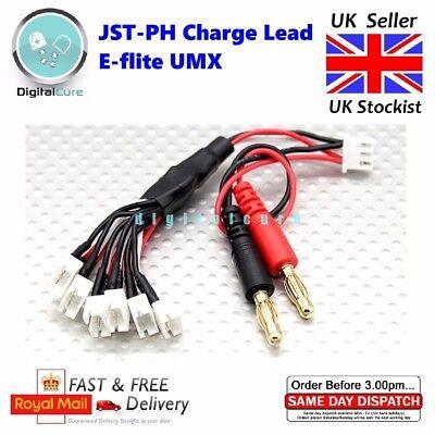6X Paralelo Jst-Ph Cable de Carga Para Hoja E-Flite Umx Serie 2S...