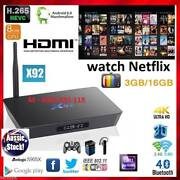 3/16GB S912 X92 Android kodi tv box bluetooth octa core 4K wifi Noble Park Greater Dandenong Preview