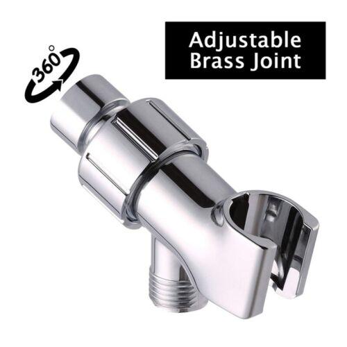 Arm Bracket Hand Shower Head Holder Adjustable Mount Accessory Polished Chrome