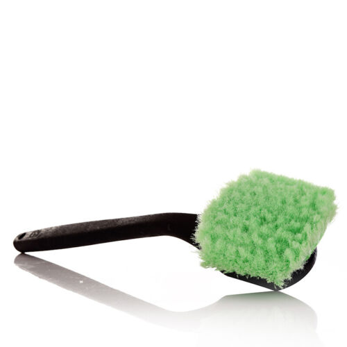 Long Curved Handle Flagged-Tip Bristles Car Wheel / Body Wash Brush