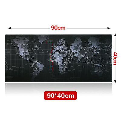 Large Size 900*400*3MM World Map Speed Game Mouse Pad Mat Laptop Gaming Mousepad