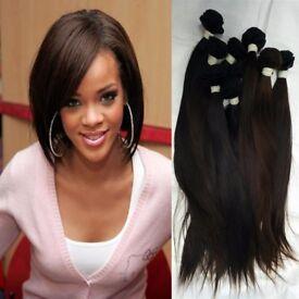 3 Pcs Virgin Brazilian Human Hair Extensions