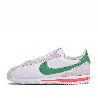 Nike CORTEZ BASIC NYLON Men's Shoes 819720-103 White/Red/Green sz 8-13