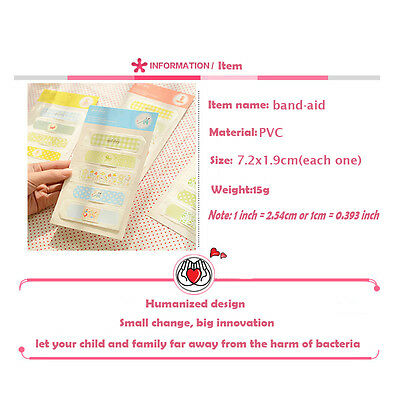 American Tin Band-Aid Breathable Cute Cartoon Bandage Stop Bleeding Stickers