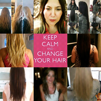 100% cuticle intact Remy human hair extensions 519-697-4222