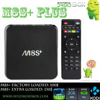 M8S+ PLUS Android TV Box Quad Core 5.1 KODI APPLE TV 2 KILLER 2G